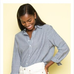 f9cb682d427d9 Brandy Melville Tops - Brandy Melville Isabela striped collared shirt